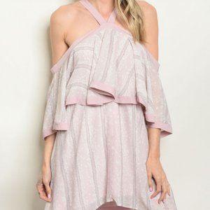$10 sale! lilac Entro boho mini dress